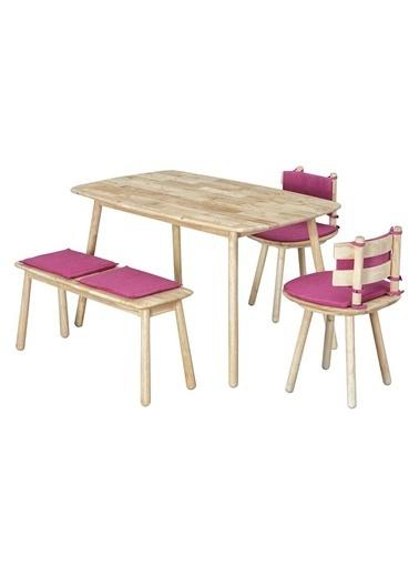 Vitale Seven-D Fuşya Masa Sandalye Seti Fuşya